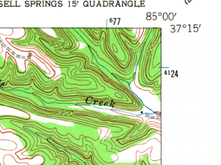 Reduced fragment of topographic map en--usgs--024k--013096--(1953)--N037-15-00_W085-07-30--N037-07-30_W085-00-00