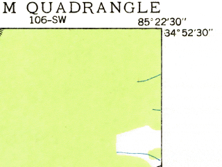 Reduced fragment of topographic map en--usgs--024k--013130--(1935)--N034-52-30_W085-30-00--N034-45-00_W085-22-30