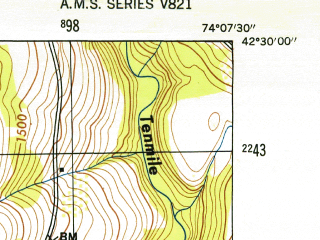 Reduced fragment of topographic map en--usgs--024k--013134--(1946)--N042-30-00_W074-15-00--N042-22-30_W074-07-30