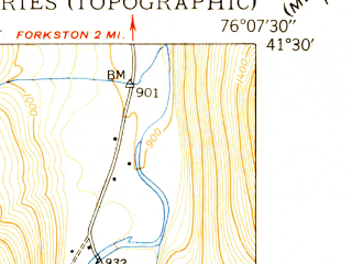 Reduced fragment of topographic map en--usgs--024k--013169--(1948)--N041-30-00_W076-15-00--N041-22-30_W076-07-30