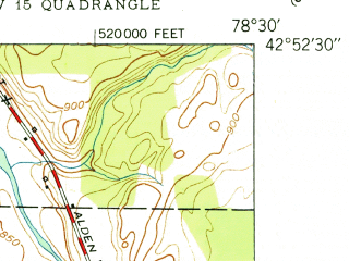 Reduced fragment of topographic map en--usgs--024k--013331--(1950)--N042-52-30_W078-37-30--N042-45-00_W078-30-00; towns and cities East Aurora