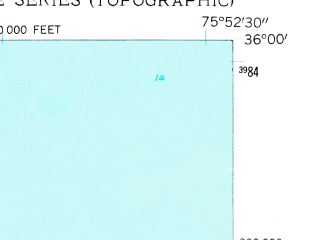 Reduced fragment of topographic map en--usgs--024k--013387--(1953)--N036-00-00_W076-00-00--N035-52-30_W075-52-30