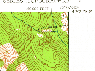 Reduced fragment of topographic map en--usgs--024k--013392--(1945)--N042-22-30_W073-15-00--N042-15-00_W073-07-30