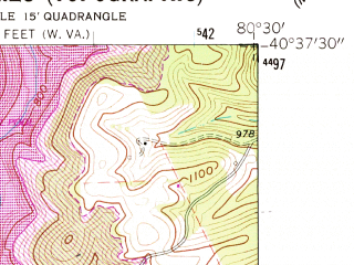 Reduced fragment of topographic map en--usgs--024k--013397--(1960)--N040-37-30_W080-37-30--N040-30-00_W080-30-00; towns and cities East Liverpool, Chester, Empire, Newell