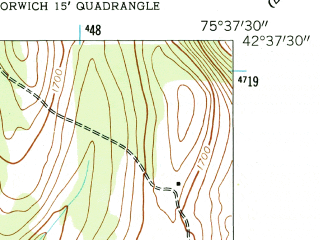 Reduced fragment of topographic map en--usgs--024k--013472--(1943)--N042-37-30_W075-45-00--N042-30-00_W075-37-30
