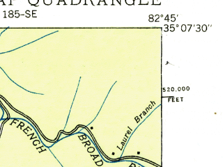 Reduced fragment of topographic map en--usgs--024k--013498--(1935)--N035-07-30_W082-52-30--N035-00-00_W082-45-00
