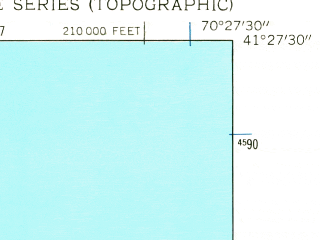 Reduced fragment of topographic map en--usgs--024k--013644--(1951)--N041-27-30_W070-34-60--N041-19-60_W070-27-30; towns and cities Edgartown