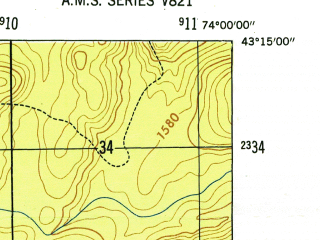 Reduced fragment of topographic map en--usgs--024k--013681--(1946)--N043-15-00_W074-07-30--N043-07-30_W074-00-00