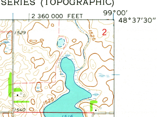 Reduced fragment of topographic map en--usgs--024k--013750--(1962)--N048-37-30_W099-07-30--N048-30-00_W099-00-00