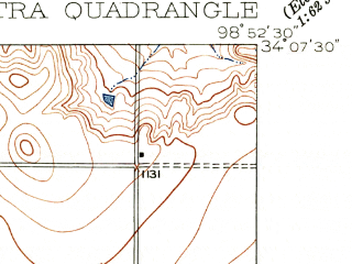 Reduced fragment of topographic map en--usgs--024k--013891--(1916)--N034-07-30_W099-00-00--N034-00-00_W098-52-30; towns and cities Electra
