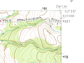 Reduced fragment of topographic map en--usgs--024k--014101--(1954)--N042-15-00_W079-22-30--N042-07-30_W079-15-00
