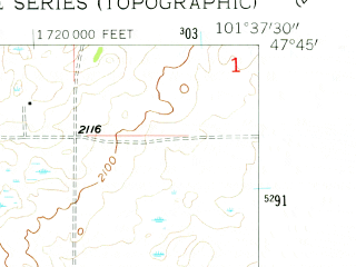 Reduced fragment of topographic map en--usgs--024k--014316--(1956)--N047-45-00_W101-45-00--N047-37-30_W101-37-30