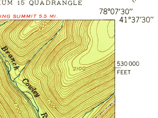Reduced fragment of topographic map en--usgs--024k--014350--(1950)--N041-37-30_W078-15-00--N041-30-00_W078-07-30; towns and cities Emporium