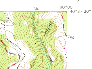 Reduced fragment of topographic map en--usgs--024k--014352--(1960)--N040-37-30_W080-07-30--N040-30-00_W080-00-00; towns and cities Mccandless Township, Ross Township, Franklin Park, West View, Avalon