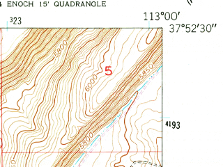 Reduced fragment of topographic map en--usgs--024k--014416--(1950)--N037-52-30_W113-07-30--N037-45-00_W113-00-00; towns and cities Enoch