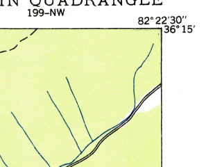 Reduced fragment of topographic map en--usgs--024k--014520--(1935)--N036-15-00_W082-30-00--N036-07-30_W082-22-30; towns and cities Erwin, Banner Hill