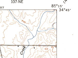 Reduced fragment of topographic map en--usgs--024k--014569--(1947)--N034-45-00_W085-22-30--N034-37-30_W085-15-00; towns and cities La Fayette, Linwood