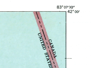 Reduced fragment of topographic map en--usgs--024k--014587--(1942)--N042-00-00_W083-15-00--N041-52-30_W083-07-30; towns and cities Estral Beach