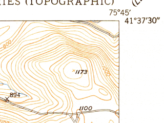 Reduced fragment of topographic map en--usgs--024k--014762--(1948)--N041-37-30_W075-52-30--N041-30-00_W075-45-00; towns and cities Factoryville