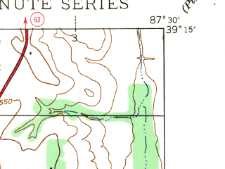 Reduced fragment of topographic map en--usgs--024k--014780--(1942)--N039-15-00_W087-37-30--N039-07-30_W087-30-00