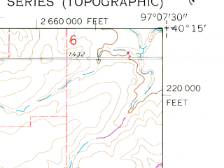 Reduced fragment of topographic map en--usgs--024k--014798--(1960)--N040-15-00_W097-15-00--N040-07-30_W097-07-30; towns and cities Fairbury