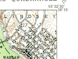Reduced fragment of topographic map en--usgs--024k--014811--(1936)--N040-22-30_W095-30-00--N040-15-00_W095-22-30; towns and cities Fairfax
