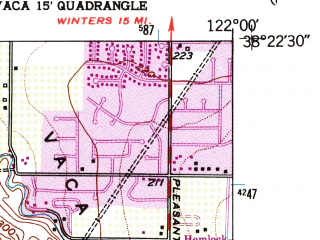 Reduced fragment of topographic map en--usgs--024k--014830--(1951)--N038-22-30_W122-07-30--N038-15-00_W122-00-00; towns and cities Fairfield