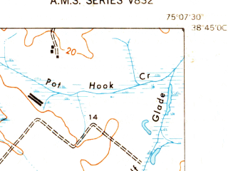 Reduced fragment of topographic map en--usgs--024k--014853--(1948)--N038-45-00_W075-15-00--N038-37-30_W075-07-30