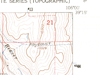 Reduced fragment of topographic map en--usgs--024k--014859--(1960)--N039-15-00_W106-07-30--N039-07-30_W106-00-00; towns and cities Fairplay