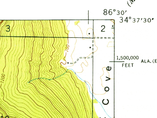 Reduced fragment of topographic map en--usgs--024k--015002--(1947)--N034-37-30_W086-37-30--N034-30-00_W086-30-00