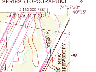 Reduced fragment of topographic map en--usgs--024k--015022--(1954)--N040-15-00_W074-15-00--N040-07-30_W074-07-30; towns and cities Farmingdale