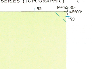 Reduced fragment of topographic map en--usgs--024k--015051--(1960)--N048-00-00_W090-00-00--N047-52-30_W089-52-30