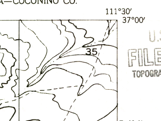 Reduced fragment of topographic map en--usgs--024k--015203--(1951)--N037-00-00_W111-37-30--N036-52-30_W111-30-00
