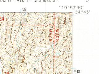 Reduced fragment of topographic map en--usgs--024k--015250--(1959)--N034-45-00_W120-00-00--N034-37-30_W119-52-30