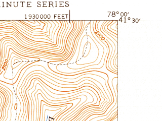 Reduced fragment of topographic map en--usgs--024k--015319--(1947)--N041-30-00_W078-07-30--N041-22-30_W078-00-00