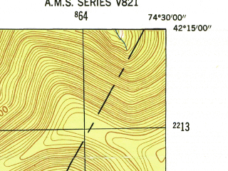 Reduced fragment of topographic map en--usgs--024k--015538--(1946)--N042-15-00_W074-37-30--N042-07-30_W074-30-00; towns and cities Fleischmanns
