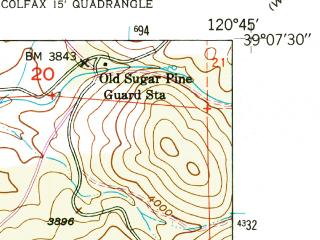 Reduced fragment of topographic map en--usgs--024k--015802--(1949)--N039-07-30_W120-52-30--N039-00-00_W120-45-00