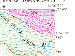 Reduced fragment of topographic map en--usgs--024k--015943--(1956)--N027-45-00_W082-15-00--N027-37-30_W082-07-30