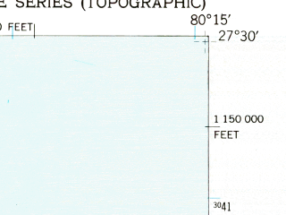 Reduced fragment of topographic map en--usgs--024k--015978--(1949)--N027-30-00_W080-22-30--N027-22-30_W080-15-00; towns and cities Fort Pierce, Fort Pierce North, Fort Pierce South, St. Lucie, White City