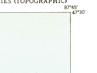 Reduced fragment of topographic map en--usgs--024k--016029--(1949)--N047-30-00_W087-52-30--N047-22-30_W087-45-00