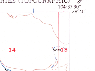 Reduced fragment of topographic map en--usgs--024k--016095--(1948)--N038-45-00_W104-45-00--N038-37-30_W104-37-30; towns and cities Security-widefield, Fountain
