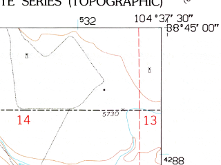 Reduced fragment of topographic map en--usgs--024k--016095--(1961)--N038-45-00_W104-45-00--N038-37-30_W104-37-30; towns and cities Security-widefield, Fountain