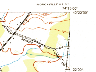 Reduced fragment of topographic map en--usgs--024k--016357--(1947)--N040-22-30_W074-22-30--N040-15-00_W074-15-00; towns and cities Freehold, Robertsville, Yorketown, Englishtown