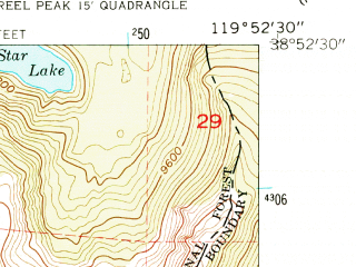 Reduced fragment of topographic map en--usgs--024k--016358--(1955)--N038-52-30_W120-00-00--N038-45-00_W119-52-30