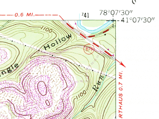 Reduced fragment of topographic map en--usgs--024k--016444--(1959)--N041-07-30_W078-15-00--N041-00-00_W078-07-30