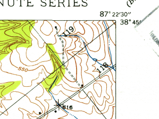 Reduced fragment of topographic map en--usgs--024k--016495--(1942)--N038-45-00_W087-30-00--N038-37-30_W087-22-30