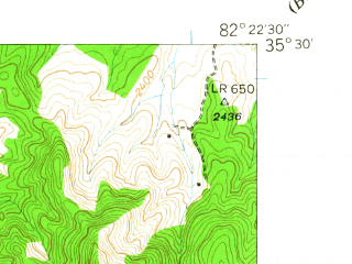 Reduced fragment of topographic map en--usgs--024k--016532--(1942)--N035-30-00_W082-30-00--N035-22-30_W082-22-30