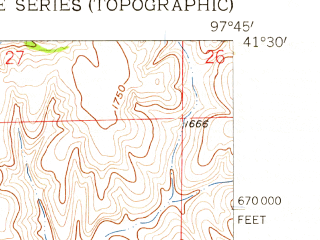 Reduced fragment of topographic map en--usgs--024k--016571--(1958)--N041-30-00_W097-52-30--N041-22-30_W097-45-00