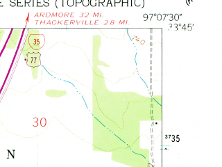 Reduced fragment of topographic map en--usgs--024k--016649--(1960)--N033-45-00_W097-15-00--N033-37-30_W097-07-30; towns and cities Gainesville, Lindsay