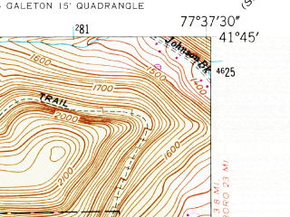 Reduced fragment of topographic map en--usgs--024k--016682--(1947)--N041-45-00_W077-45-00--N041-37-30_W077-37-30; towns and cities Galeton